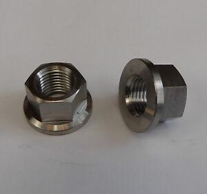 2x Titanium M14 x 1.5mm Fine Flange Nuts Light Weight Kawasaki 92015-1401