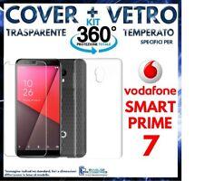 COVER TRASPARENTE + PELLICOLA VETRO TEMPERATO Per VODAFONE SMART PRIME 7 VFD600