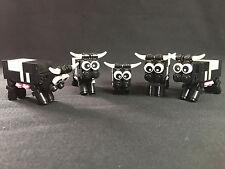 Lego 5x Kühe, Kuh, Tier, Tiere, animals, Bauernhof Stadt City System Eigenbau