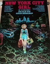 Susan Seidelman NEW YORK CITY GIRL original Kino Plakat A1 gerollt