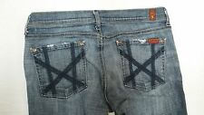 Pre-owned 7 For All Mankind Women's Mia Distressed Denim Jeans Size 30/30 J104
