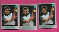 3 X  RARE ANDRE AGASSI TENNIS PLAYER  CARD (INV# C3264)