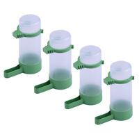 4× Automatisch Kerne Wasser Futterspender Käfig für Papagei Nymphensittich Neu