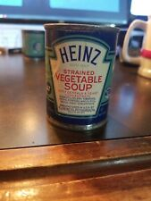 Vintage Heinz 57 Strained Baby Food Paper label Tin Can~ Strained Vegetable Soup