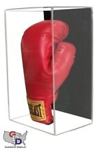 Acrylic Wall Mount Vertical Boxing Glove Display Case UV Protecting Full Size