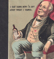 King Bitters Rochester NY 1800's bottle 19th Century Patent Medicine Trade Card