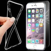 Silikon Hülle+Schutz Glas Display Schutz Hülle Full Body Handyhülle Handy Tasche