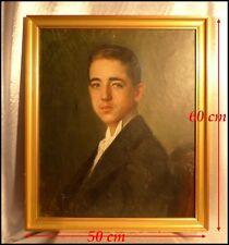"""""""Portrait d'un Beau Jeune Homme"""" par Gennaro Befani Ecole Italienne Huile Signée"""
