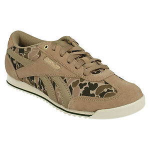 REEBOK LADIES ROYAL RAYEN CL LACE UP CASUAL CAMOUFLAGE SPORTS TRAINERS SHOES