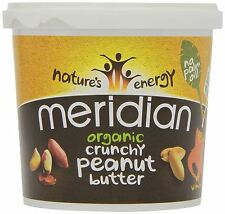 Meridian Organic Crunchy Peanut Butter 1kg (Pack of 12)
