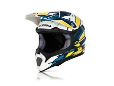 Casco Acerbis Impact Giallo Blu Moto Cross Enduro Motard ATV Quad Helmet Casque