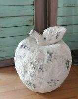 XXL Apfel Deko Keramik creme weiss Shabby Brocante