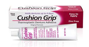 Cushion Grip - Thermoplastic Denture Adhesive (10g) FREE FAST UK DISPATCH