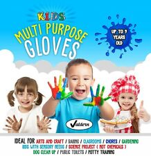 Kids Multipurpose LATEX FREE - POWDER FREE DISPOSABLE Gloves for Children School