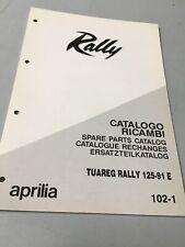 Aprilia supplément catalogue pièces détachées Tuareg 125 Rally 1991 chassis
