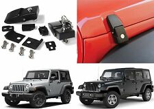 Aluminum Locking Hood Catch Latches For 2007-2017 Jeep Wrangler New Free Ship