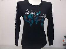 "Harley-Davidson Women's L/S Black ""rose Vines"" Vintage '92 thermal shirt Medium"