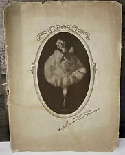 Orig 1923 Anna Pavlova Tour Program Baldwin Piano Endorsed Advertisement Rare