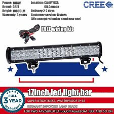 17 inch 108W CREE LED Work Light Bar SUV 4WD ATV Off Road Truck Jeep Ford 18/20