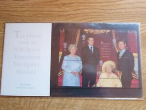 GB Presentation Pack Miniature Sheet 100th Birthday Queen Mother