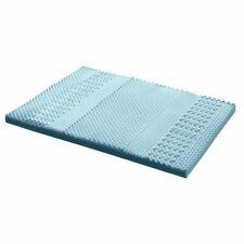 Giselle 7 Zone Cool Gel Memory Foam Mattress Topper, Queen - Blue
