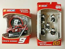 Nascar Kasey Kahne #9 Race Car 2005 & Snowman Pit Crew Mini Ornament Sealed NIB
