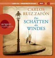 DER SCHATTEN DES WINDES (MP3/LESUNG) - ZAFON,CARLOS RUIZ   2 CD NEW