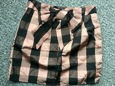Stunning Ladies Mini Skirt by TopShop Featuring Big Bow in Copper. Size UK 10