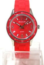 MAGNUM Armbanduhr Unisex Sportliche Silikon-Quarz-Armbanduhr, rot NL398 A