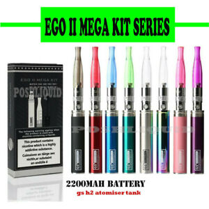 GS EGO II Mega Pack Starter Kit 2200mAh ii Battery with Atomizer and Usb Charger
