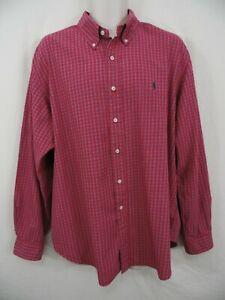 "Ralph Lauren Polo ""Classic Fit"" 2XL XXL RED Button Down Dress Casual PONY Shirt"
