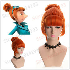 Anime Despicable Me2 Wavy Curly Short Orange Bun Cosplay Wig For Costume Party