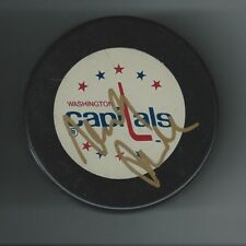 Michal Pivonka Signed Washington Capitals Puck