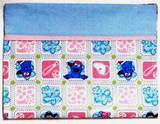 Toddler Pillow for Sesame Street on Blue Blocks 100%Cotton Ss7-4 New Handmade