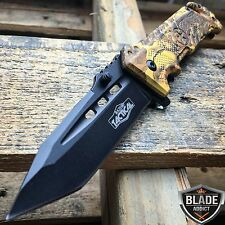 """8"""" Military Tactical Assisted Spring Rescue Pocket Hunting Folding OPEN Knife -T"""
