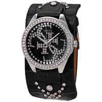 Guess Heartbreaker Crystal Black Dial Ladies Watch W1140L1