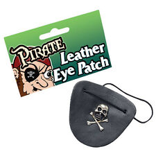PIRATA COOL #skull METAL SIMILPELLE Eyepatch FANCY DRESS ACCESSORIO
