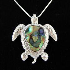 Großer Paua Abalone Anhänger Schildkröte Muschel Shell Turtle Kette Perlmutt