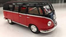volkswagen classiche BUS 1962 ROSSO NERO KINSMART modello 1/32 Scala pressofuso
