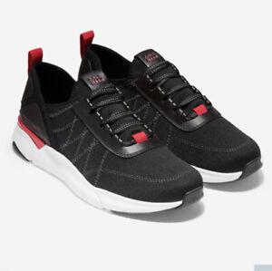 Men Cole Haan Grandsport Trainer Shoes Sneakers Black Knit/Nimbus Cloud C31442