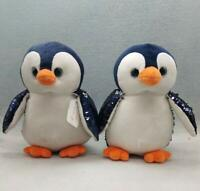 Sequin Sparkle PENGUIN PLUSH TOY RELAXING TO FEEL 10 INCH GREAT SOFT TOY GIFT UK