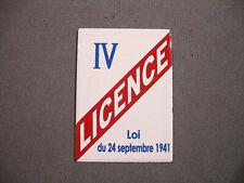 MAGNET véritable PLAQUE EMAILLEE 7 cm x 5 cm LICENCE IV bar  debit boissons