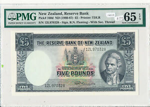 New Zealand 1960 ~7 5 Pound PMG GEM UNCIRCULATED 65 EPQ PM0125 pick# 160d combin