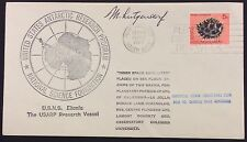 1969 space/satellite cover - placed on the sea floor by ships of 2 navies signed