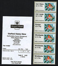 ROBINS Ma13 CODE HYTECH A3 POST & Go STAFFORD 6xCOLLECTORS STRIP WITH RECEIPT