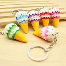 2Pc Color Cone Pro Kawaii Squishy Squishies Mini Ice Cream Keychain Charm Strap