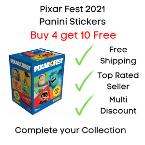Panini Pixar Fest Sticker Collection 2021 - Buy 4 get 10 Free Pick Your Stickers