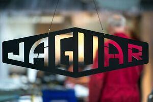 Jaguar Large Black Steel Sign, Wall Art, Man Cave, Workshop, Pub