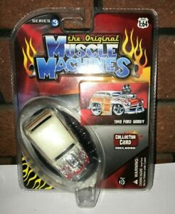 The Original Muscle Machines 1949 Ford Woody Car Cream Die Cast 1/64 Scale
