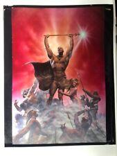 """Richard Corben Den Heavy Metal Oversized Transparency 11"""" x 14"""" 1981"""